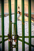 Lake Superior Framed Prints - North Pier Closed For The Winter Framed Print by Shutter Happens Photography