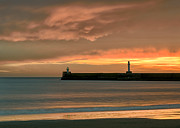 Breakwater Prints - North Pier Dawn Print by David Bowman