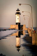 Duluth Photos - North Pier Sunset Melt by Shutter Happens Photography
