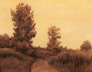Sepia Pastels Prints - North Point Path Print by Nicole Wright