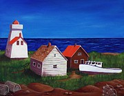 Vacation Drawings - North Rustico - Prince Edwards Island by Anastasiya Malakhova