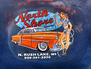 North Shore Prints - North Shore Garage Print by Thomas Young
