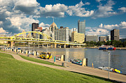 North Shore Prints - North Shore in Pittsburgh  Print by Emmanuel Panagiotakis