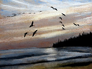 Canadian Geese Pastels - North Shore by R Kyllo