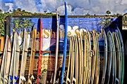 Surf Lifestyle Photo Prints - North Shore Surf Shop Print by DJ Florek