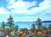 Autumn Landscape Painting Prints - North Sky Sketch Print by Richard De Wolfe
