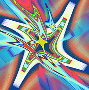 Bright Colors Prints - North Star Print by Ray Yeargin