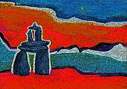 Americans Pastels Originals - North Story Inukshuk by jrr by First Star Art