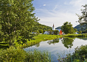 Vermont Towns Prints - North Tunbridge Summer Print by Alan L Graham
