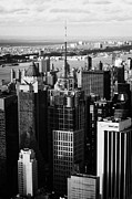 Manhaten Prints - North West Manhattan Verizon Building And 1 Times Square New York City Skyline Print by Joe Fox
