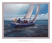 Sailing Pastels Framed Prints - North Wind Framed Print by Michael  Weber