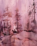 John Svenson Paintings - North Woods by John  Svenson
