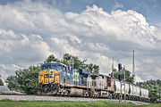 Csx Framed Prints - Northbound at Mortons Junction Framed Print by Jim Pearson