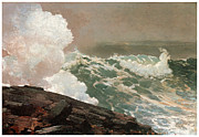 Early American Framed Prints - Northeaster Framed Print by Winslow Homer