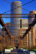 Boston Framed Prints - Northern Avenue Bridge 2 Framed Print by Joann Vitali