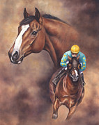 Thoroughbred Paintings - Northern Dancer by Linda Shantz