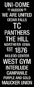 Mascot Metal Prints - Northern Iowa College Town Wall Art Metal Print by Replay Photos