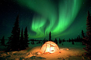 Featured Art - Northern Lights Over Tent by Matthias Breiter