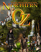 Kinkade Mixed Media Posters - NORTHERN OZ cover Poster by Vjkelly Artwork