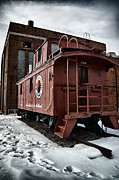 Old Caboose Posters - Northern Pacific Railways Caboose Poster by Todd and candice Dailey