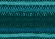 Primitive Art Tapestries - Textiles Prints - Northern Teal Weave Print by CR Leyland