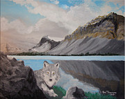 Wolf Artist Painting Posters - Northland Wilds Poster by Ron Thompson