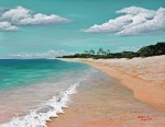 Cloudy Painting Metal Prints - Northshore Oahu  Metal Print by Darice Machel McGuire