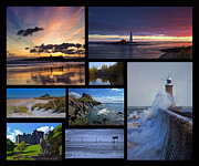 Embleton Prints - Northumbrian Castles and Coast Print by David Pringle