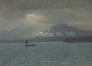Cloudy Paintings - Northwest Coast by Albert Bierstadt