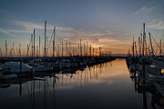 Evening Framed Prints - Northwest Marina Tranquility Framed Print by Mike Reid