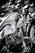 Racer Metal Prints - Norton 750cc Commando Cafe Racer Metal Print by Tim Gainey