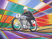 Vintage Bike Painting Originals - Norton by Andy PYRAH
