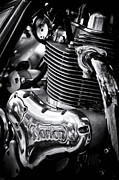 Chrome Prints - Norton Commando 961 Sport Engine Print by Tim Gainey