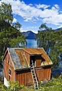 Abandoned Houses Photos - Norwegian Barn House by Heiko Koehrer-Wagner
