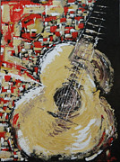 Acoustic Guitar Painting Originals - Norwegian by Dan Campbell