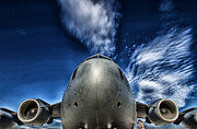 Airpower Framed Prints - Nose of a C-17 Framed Print by Mountain Dreams