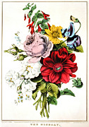 Nosegay 1848 Print by Padre Art