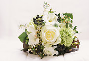 Wedding Bouquet Framed Prints - Nosegay bouquet with white rose Framed Print by Matthias Hauser