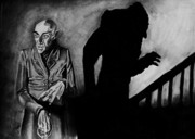 Vampire Drawings - Nosferatu by Jeremy Moore