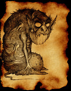 Burnt Drawings - Nosferatu by Mariano Baino