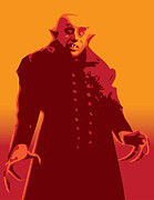 Illustrator Metal Prints - Nosferatu Metal Print by Michael Lee
