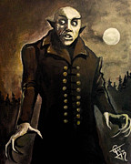 Classic Horror Framed Prints - Nosferatu Framed Print by Tom Carlton
