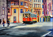 Old Tram Paintings - Nostalgia  by Anette Komjathy