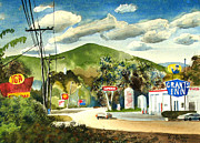 Loose Watercolor Prints - Nostalgia Arcadia Valley 1985  Print by Kip DeVore