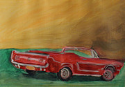 Mustang Paintings - Nostalgia by Eileen Arnold