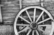 Old Wooden Wagon Prints - Nostalgia Print by James Brunker
