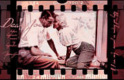 Baseball History Painting Posters - Nostalgia Joe Dimaggio and Marilyn Monroe Your Happiness Means My Happiness Poster by Douglas MooreZart