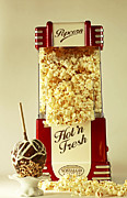 Stylized Food Photos - Nostalgia Old Fashion Theater Style Popcorn and Candy Apple by Inspired Nature Photography By Shelley Myke