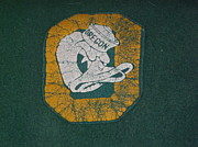 Oregon Ducks Prints - Nostalgia Oregon Print by Sophie Richmond Curley