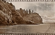 Disappointment Mixed Media Prints - Nostalgic Cape Disappointment Print by Chalet Roome-Rigdon